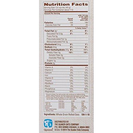 Quaker oats, old fashioned, 2 5 lb
