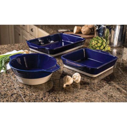 Stoneware 3 piece bakeware set