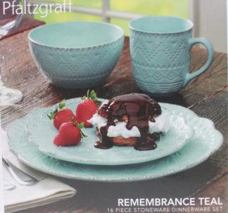 Pfaltzgraff Remembrance Teal