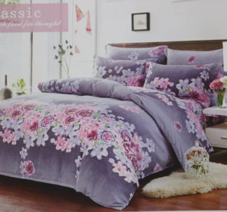 Lavender Bed sheet -Queen size