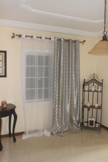 Bordeaux 2 set window curtains