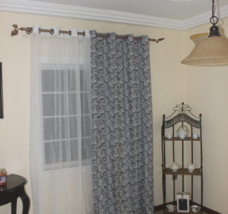 Retro Silhouette 2 set Window Curtains