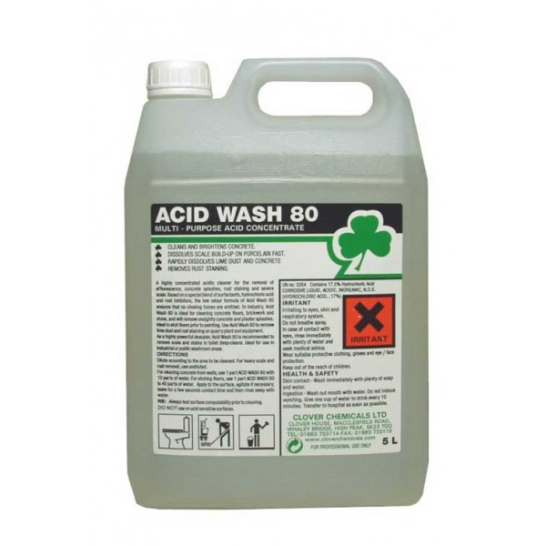 Clover Acid Wash 80 Extra Strong Acidic Cleaner 5