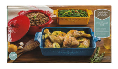 Berkley Jensen 4 pcs bakeware set -multicolored