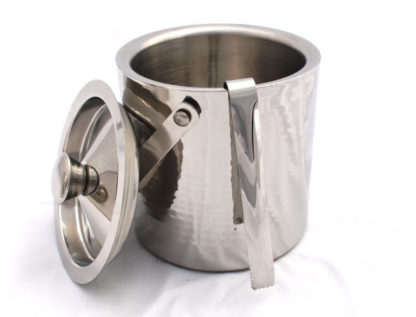 Crofton Hammered Stainless Steel Ice Bucket