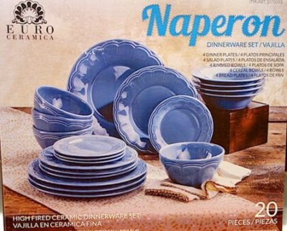 Naperon Dinnerware set - 20pc Ceramic