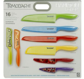 Hampton Forge 16-Piece Tomodachi Prints Cutlery Set