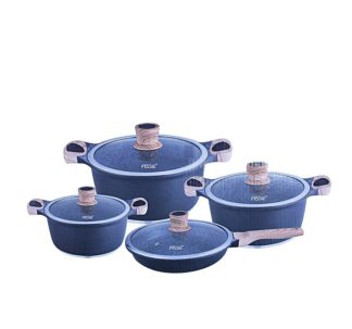 Fessle Granite Coated Cookware Set - Non-stick