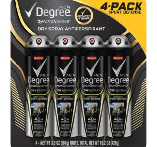 Degree Men MotionSense Antiperspirant Dry Spray, Active Shield