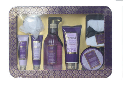 7 Piece Scented Body Care Set infused with Argan Oil & Shea Butter