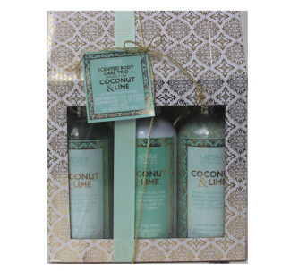 Lacura Botanicals Coconut & Lime Body Lotion, Body Wash, and Bath Salt