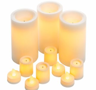 11 Flameless Led Candles - Variety Pack