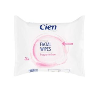 Cien Cleansing Face Wipes, sensitive skin - 25 pack