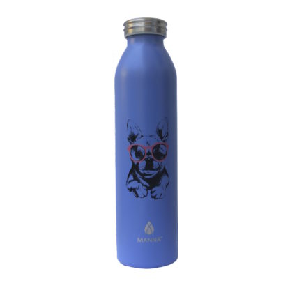 Manna Double Walled Vacuum Insulated Stainless Steel Water Bottle ( Blue) – 591ml