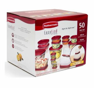 Rubbermaid Easy Find Lids Food Storage Containers - 50 pcs set
