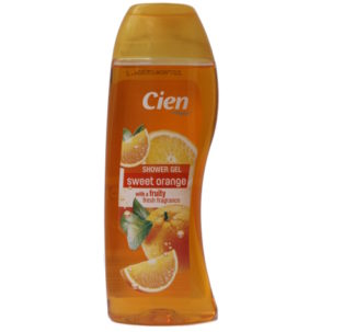 Cien Shower Gel, sweet orange with a fruity fresh fragrance -300ml