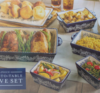Baum 6 Piece Oven to Table set blue