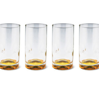 Crofton 4 pcs Colored Water Glass 325 ml - Gold