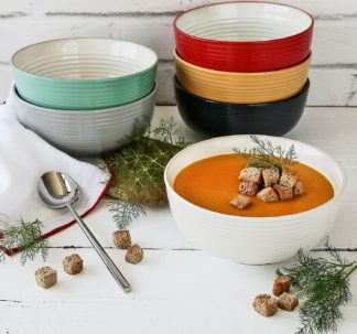 6-Piece Farmhouse Bowls Set (Assorted Colors)