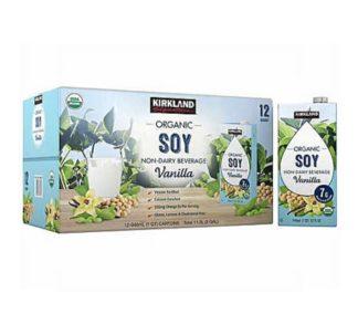 Kirkland Signature Organic Vanilla Soy Beverage carton 946mL - 12 pack