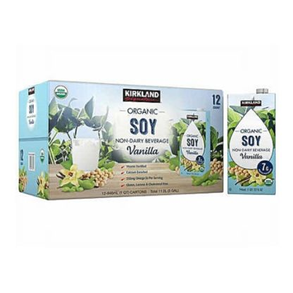 Kirkland Signature Organic Vanilla Soy Beverage carton 946mL - 12 pack