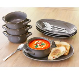 Member's Mark 8 Pc Bowl and Platter Set - Grey