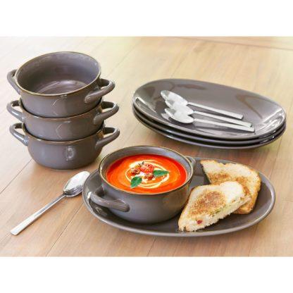 Member's Mark 8 Pc Bowl and Platter Set - Grey