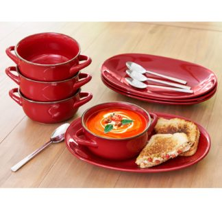 Member's Mark 8 Pc Bowl and Platter Set - Red
