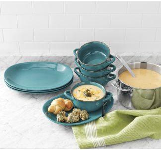Member's Mark 8 Pc Bowl and Platter Set - Teal