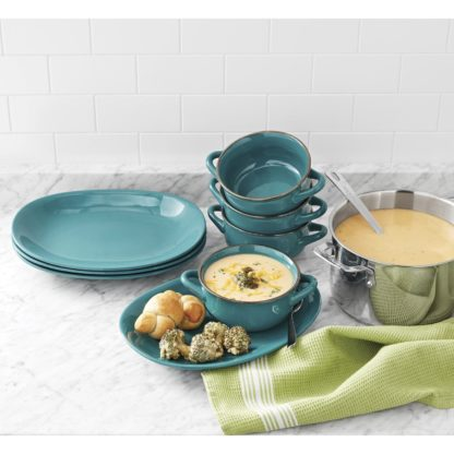 Member's Mark 8 Pc Bowl and Platter Set - Teal