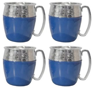 Member's Mark Hammered Mule Mugs, 4 Pack - Blue