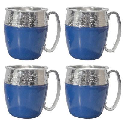 Member's Mark Hammered Mule Mugs, 4 Pack - Blue