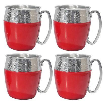 Member's Mark Hammered Mule Mugs, 4 Pack - Red