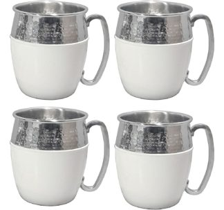 Member's Mark Hammered Mule Mugs, 4 Pack - White