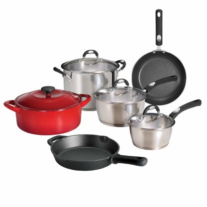 Tramontina 10-Piece Kitchen Essentials Multi-Material Cookware Set