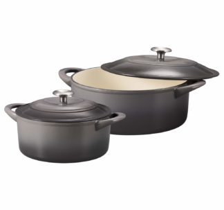 Tramontina Enameled Cast Iron Covered Dutch Oven Combo, 2-Piece