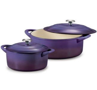Tramontina Enameled Cast Iron Dutch Oven Purple Color