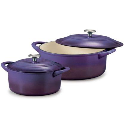 Tramontina Enameled Cast Iron Dutch Oven Purple Color