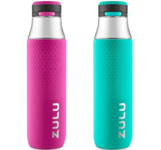 Zulu Studio Tritan Water Bottle, 2-Pack (Assorted Colors) 946 mL.