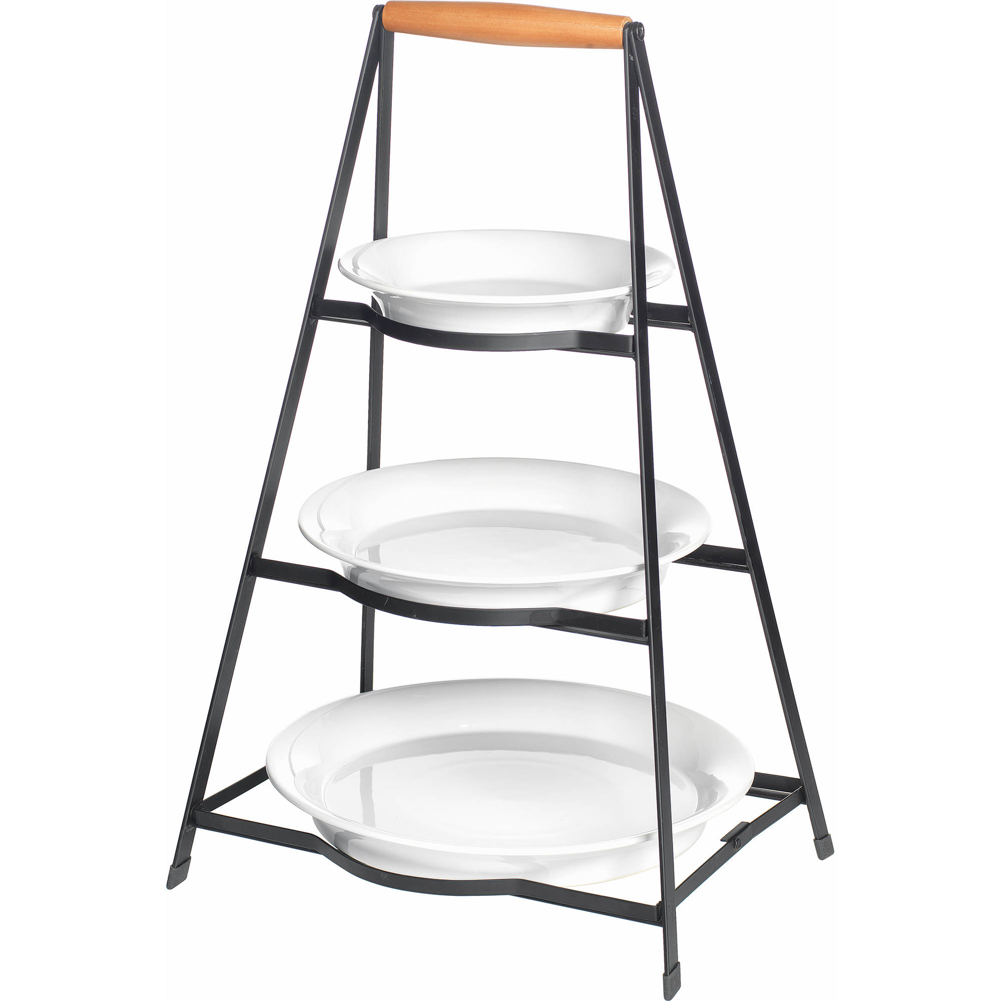 Groovy Berkley Jensen 3 Tier Collapsible Server With Plates Cjindustries Chair Design For Home Cjindustriesco