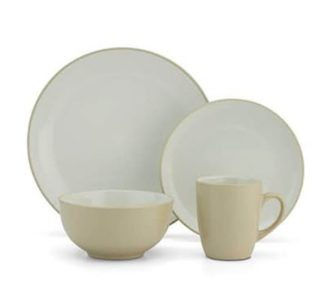 Cuisinart 16 PC Dinnerware set - Light Yellow