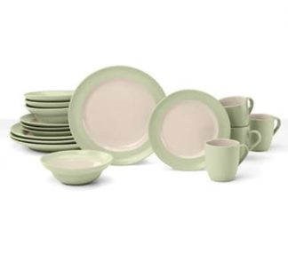 Cuisinart 16 PC Dinnerware set - Light Green
