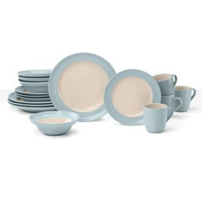 Cuisinart 16 PC Dinnerware set - Teal