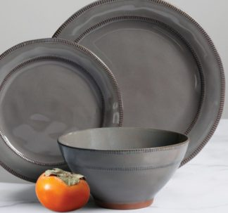 Gibson Elite 18-Piece Reactive Glaze Terracotta Dinnerware Set - Teal