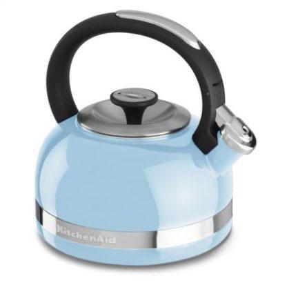 KitchenAid Whistling Porcelain Enamel Kettle - 1.9L (Cameo Blue)