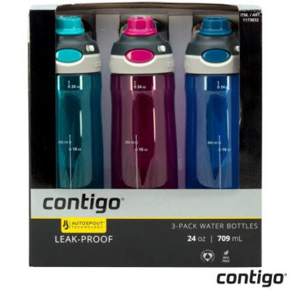 Contigo AutoSpout Leak Proof Bottles - 3 pack
