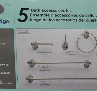 Water Ridge 5-Piece Bath Accessories Kit w/ Brushed Nickel Finish