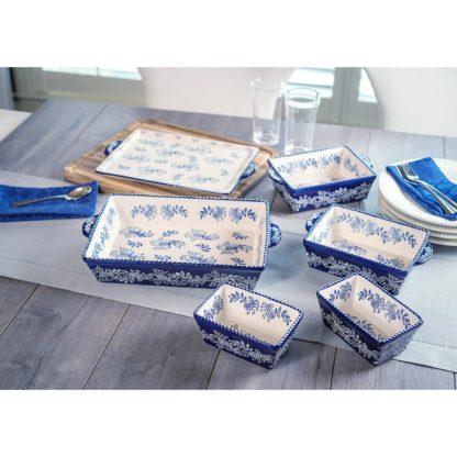 .Baum 6 piece Ceramic Oven-to-Table Set - Blue