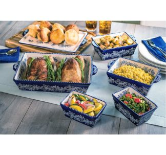 .Baum 6 piece Ceramic Oven-to-Table Set - Blue
