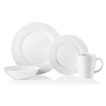 Oneida Naturally White 16pc Dinnerware Set